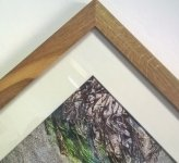 Oak frame handmade by Matt.