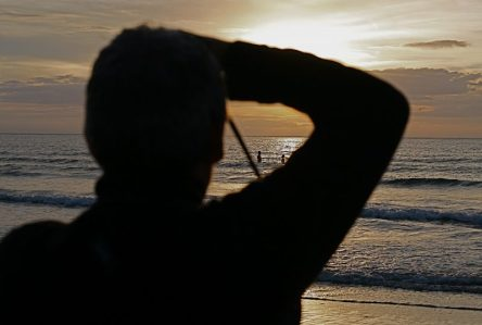 Matt taking sunset