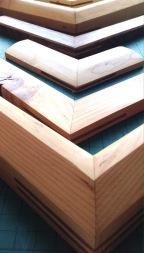 Handmade mouldings from reclaimed wood.